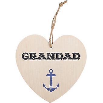 Algo diferente abuelo colgante corazón signo