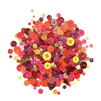 500g Assorted Warm Colour Buttons for Arts & Crafts