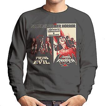Hammer Horror films Twins Ripper angstaanjagende dubbele Bill mannen ' s Sweatshirt