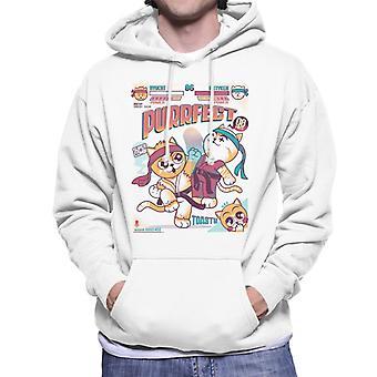 Purrfect Parody Street Fighter Men's Hooded Sweatshirt