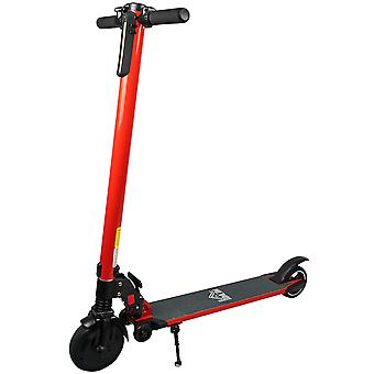 HOMCOM Electric Scooter 250W Power 3-Level Adjustable Speed Up to 12 km/h Light Rubber Wheel For Adult Town and City Commuter - Red