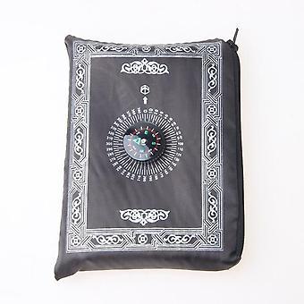 Polyester Draagbare Gevlochten moslim gebedskleed - Gewoon afdrukken met kompas in