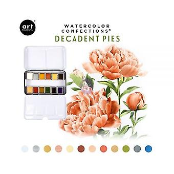 Art Philosophy Watercolor Confections Decadent Pies