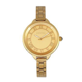 Bertha Madison Sunray Dial Bracelet Watch - Gold