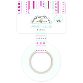 Doodlebug Design Lovely Lines Washi Tape