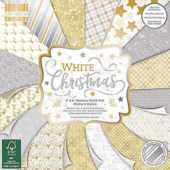Primera Edición Blanco Navidad 6x6 pulgadas Paper Pad