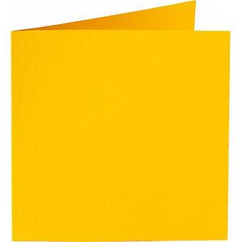 Papicolor 6X Dubbele kaart 132X132mm Boterbloem-Geel