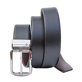 "Primehide Mens Reversible Leather Belt 1.5"" (38mm) Jeans Width Black / Brown"