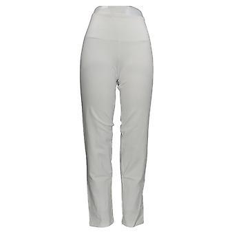 Frauen mit Kontrolle Frauen's Hose Tummy Cntrl Lifter Slim-Leg Weiß A374339