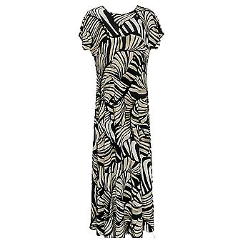 Attitudes by Renee Dress Regular Como Jersey Printed Maxi Black A347401