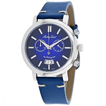495, Mathey Tissot Men 's H42CHABU Quartz Blue Watch
