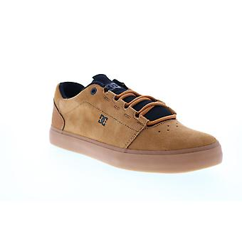 DC Hyde  Mens Brown Suede Lace Up Skate Sneakers Shoes