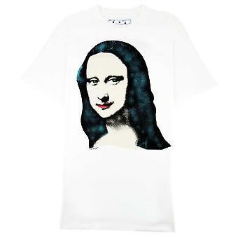 Off-White Off Blanco Mona Lisa S/s Over Camiseta Blanco/negro