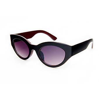 Gafas de sol Negro/rojo/violeta ovalado para mujer (20-069)