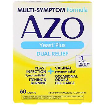 Azo yeast, natural symptom prevention & relief, 400 mg, tablets, 60 ea *