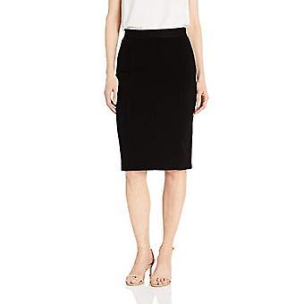 Leeuwerik & Ro Women's Elastische taille kokerrok met prinsesnaden, zwart, 6