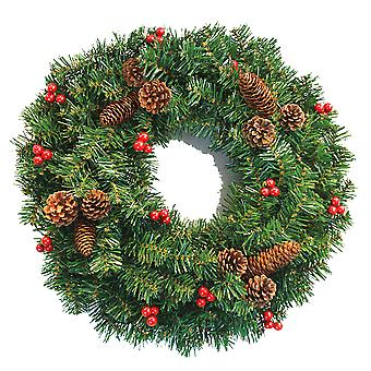Christmas garland door, window and wall hanging decorations, decorative vines and pine cones