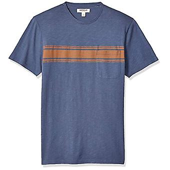 Brand - Goodthreads Men's Lightweight Slub Crewneck Pocket T-Shirt, Rust, XXX-Large