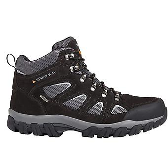 Sprayway Mens Mull Mid Wicking Suede Lace Up Walking Boots