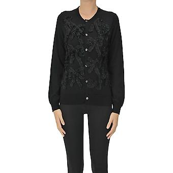 Comme Des Garçons Ezgl046027 Femmes's Cardigan en laine noire