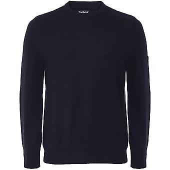 Barbour International Crew Neck Baffle Patch Jumper