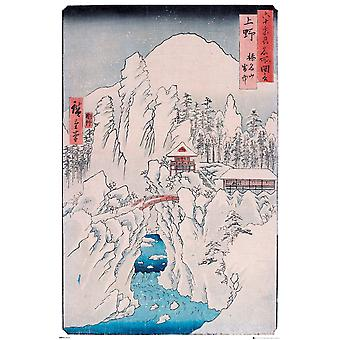 Hiroshige Mount Haruna In Snow Maxi Poster