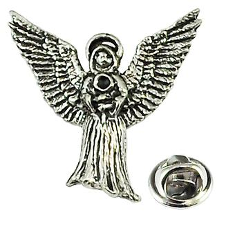 Bånd Planet Flying Angel engelsk Pewter Revers Pin Badge