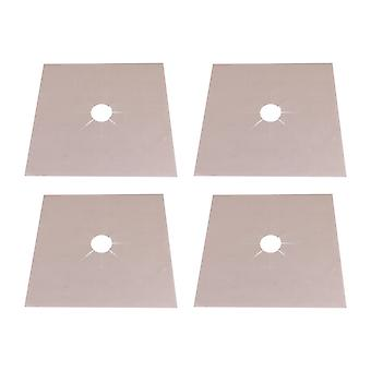 4x Beige Gas Range Herd Top Brenner Protector Clean Matte 270x0.12MM