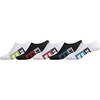 Globe Stamped Invisible 5 Pack Ankle Socks - Multi