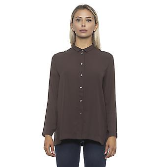 المرأة ألفا استوديو براون قميص