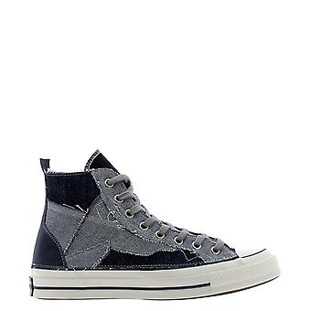 Converse 169142c832 Men's Blue Cotton Hi Top Sneakers