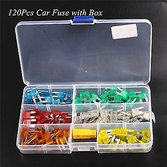 Mini Small Size Blade Car Fuse Assortment Set For Auto Car Truck  5/10/15/20/25/30a Fuse With Plastic Box