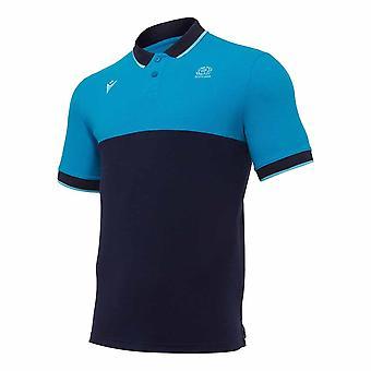 2020-2021 اسكتلندا الترفيه شريط بوليكوتون بولو قميص (تيل)