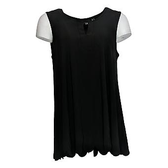 Women with Control Women's Top Jersey Sleeveless Keyhole Black A301345