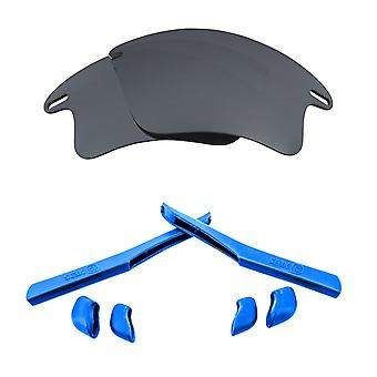 Replacement Lenses Kit for Oakley Fast Jacket XL Silver Mirror Blue Anti-Scratch Anti-Glare UV400 by SeekOptics