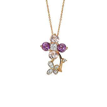 Ametyst Diamond halskæde