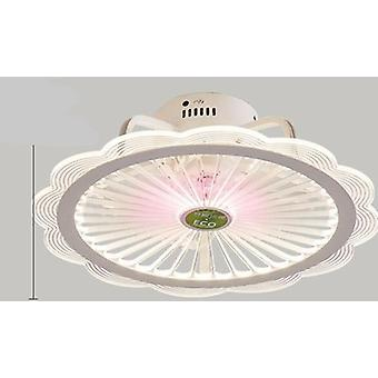Modern Minimalist Alb Pictat Din fier Plafon Fan Light Crystal Decorativ