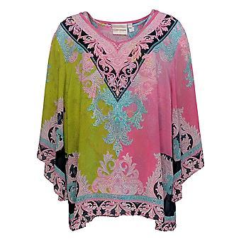 Belle By Kim Gravel Women's Top Woven Blouse Knit Tank Set Pink A373653