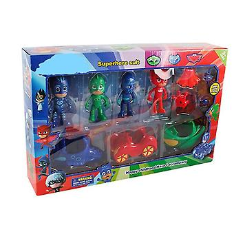 Pj Masks Cartoon Model Dolls Set, Catboy Owlgilrs Anime Figures Toy