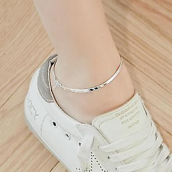 Sterling Silver Fashion Ladies`anklet, Female Jewelry, Women Summer Birthday