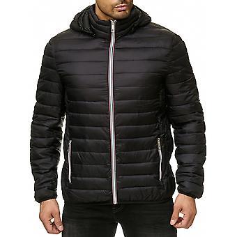 Men Quilted Jacket Windbreaker Transition Casual Sports Blouson Full Zip Outdoor