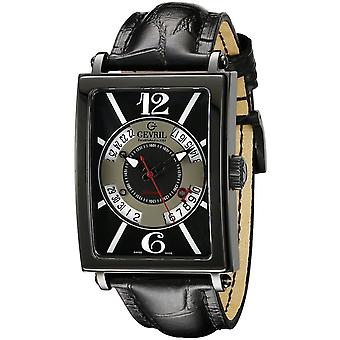 Gevril 5050 Avenue Of Americas Men's Black Watch