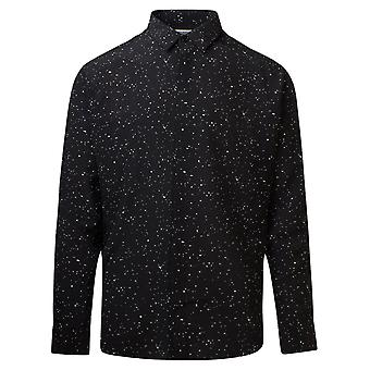 Saint Laurent 564172y1b391095 Men's Black Silk Shirt