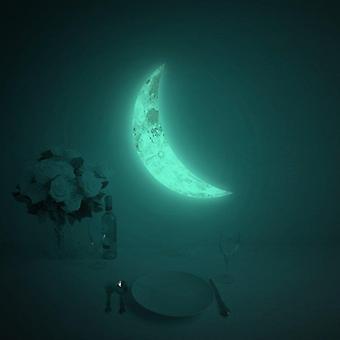 Luna Crescent Glow i den mörka månen Klistermärke