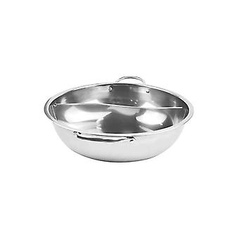 34Cm Stainless Steel Twin Mandarin Duck Hot Pot Without Lid