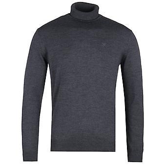 Emporio Armani Charcoal Grey Turtle Neck Sweater