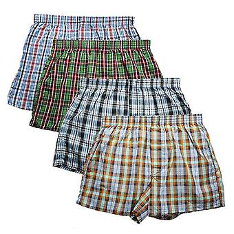 High Quality Men's Boxer Shorts Woven Cotton 100% Classic Plaid Combed