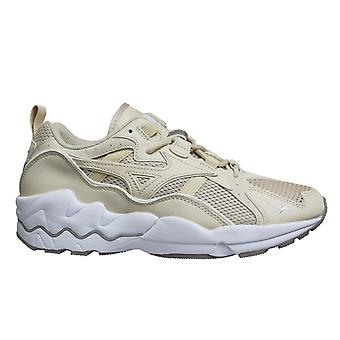 Mizuno Sport Style Wave Rider 1 Beige Lace Up Mens Running Trainers D1GA192749