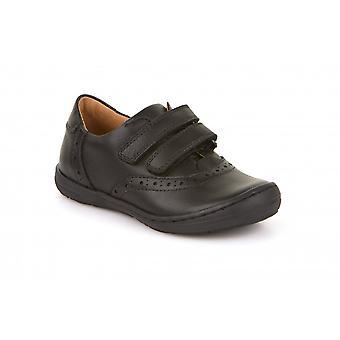 FRODDO Double Velcro Closed Front Shoe Black