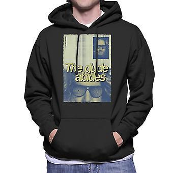 The Big Lebowski The Dude Abides Poster Men's Hooded Sweatshirt